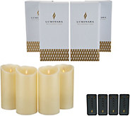 Luminara Set of (4) 7 Flameless Candles with Remotes & Boxes - H217508