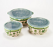 Temp-tations Floral Lace Set of 3 Basketweave Bowls - H217808