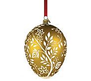 Reed & Barton Amber Mistletoe Egg Ornament - H295108