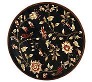 Lyndhurst Floral Swirl Power Loomed 53Diam Round Rug - H356808