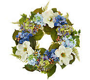 22 Hydrangea and Berry Wreath by Valerie - H214409