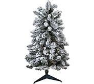As Is Bethlehem Lights Prelit 34 Flocked Tree Stake - H215009