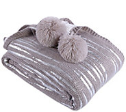 Inspire Me! Home Decor 50 x 70 Silver Leaf Knit Throw - H216909