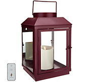 Martha Stewart Indoor/Outdoor 14 Lantern w/ Mirror Back, Candle & Remote - H217309