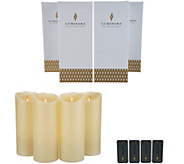 Luminara Set of (4) 9 Flameless Candles with Remotes & Boxes - H217509