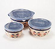 Temp-tations Old World Set of 3 Basketweave Bowls - H217809