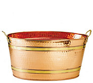 Old Dutch International Oval Decor Copper-Plated Party Tub - H288109