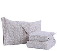 Berkshire Blanket Cozy Cable Knit Microfleece Queen Sheet Set - H303309