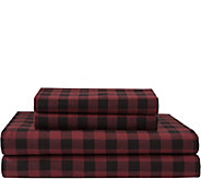 Elite Home Flannel Holiday Print 4-Piece King Sheet Set - H307409