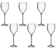 Luigi Bormioli Set of 6 Magnifico Wine Glasses,11.75oz - H364809