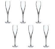 Luigi Bormioli 6-oz Vinoteque Perlage ChampagneFlutes - S/6 - H365009