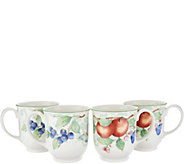 Villeroy & Boch French Garden Set of 4 Porcelain 14-oz Mugs - H213910