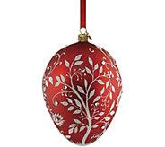 Reed & Barton Red Mistletoe Egg Ornament - H295110