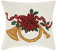 Mina Victory French Horn Multicolor 18 x 18 Throw Pillow - H301610