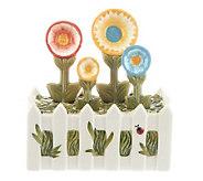Temp-tations Gingham Gardens Figural Flower 5-pc. Measuring Spoon Set - H199411