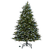 As Is Scott Living 5 Snow Dusted Color Flip LED Fir w/ 7 Functions - H215411