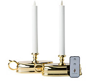 Luminara S/2 Colonial Style Window Candles withRemote Control - H292911