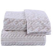 Berkshire Blanket Cozy Cable Knit Microfleece Twin Sheet Set - H303311