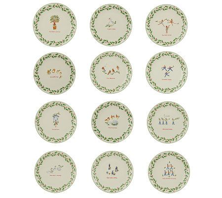 lenox 12 piece 12 days of christmas plates page 1 qvccom