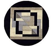 Momeni New Wave Geometric 59 Round Handmade Wool Rug - H161712