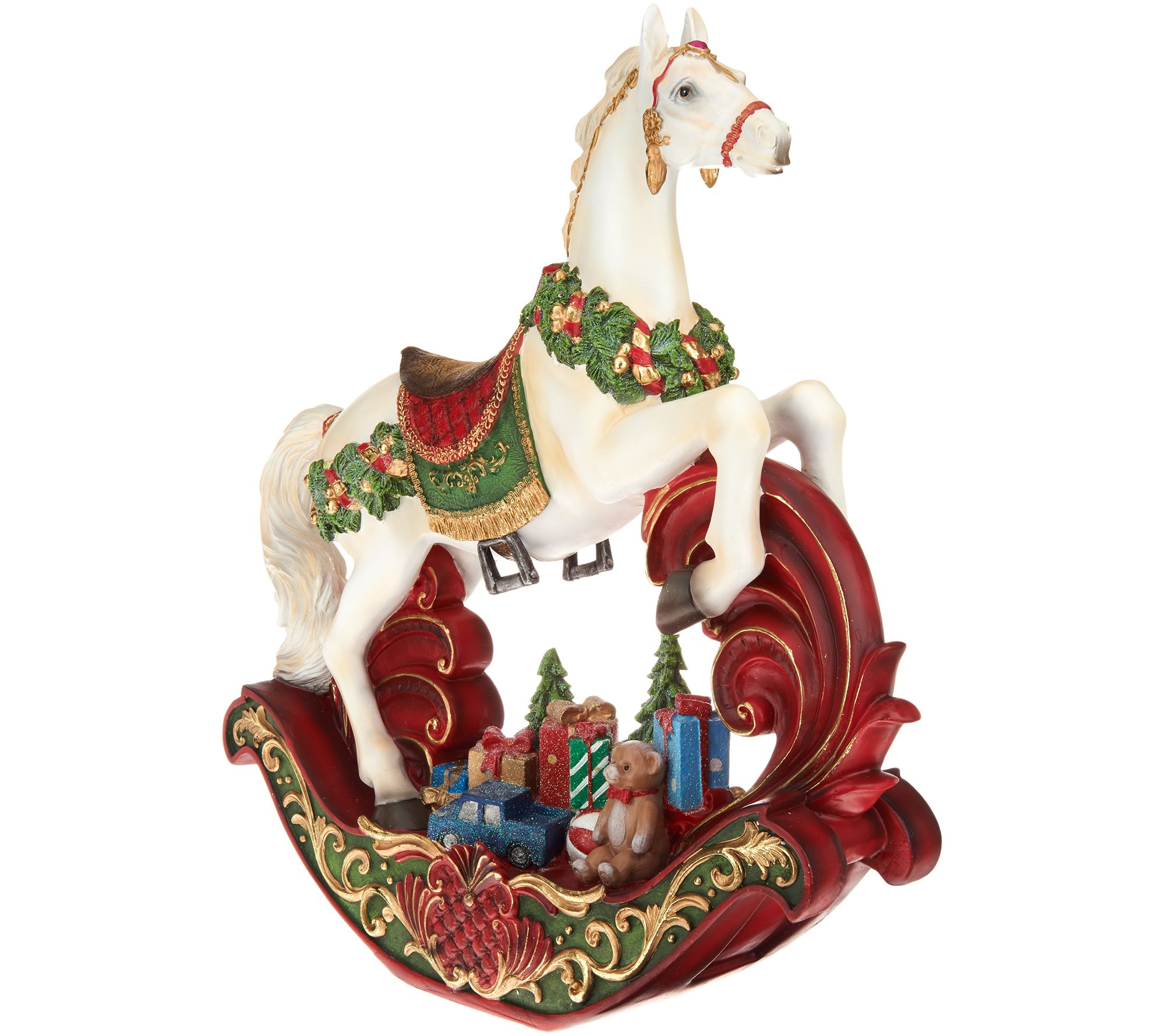 """20\"""" Decorative Rocking Horse With Gifts By Valerie by The Valerie Parr Hill Collection"""