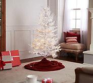 Bethlehem Lights 5 LED Multi-Function White Flocked Alpine Tree - H216412