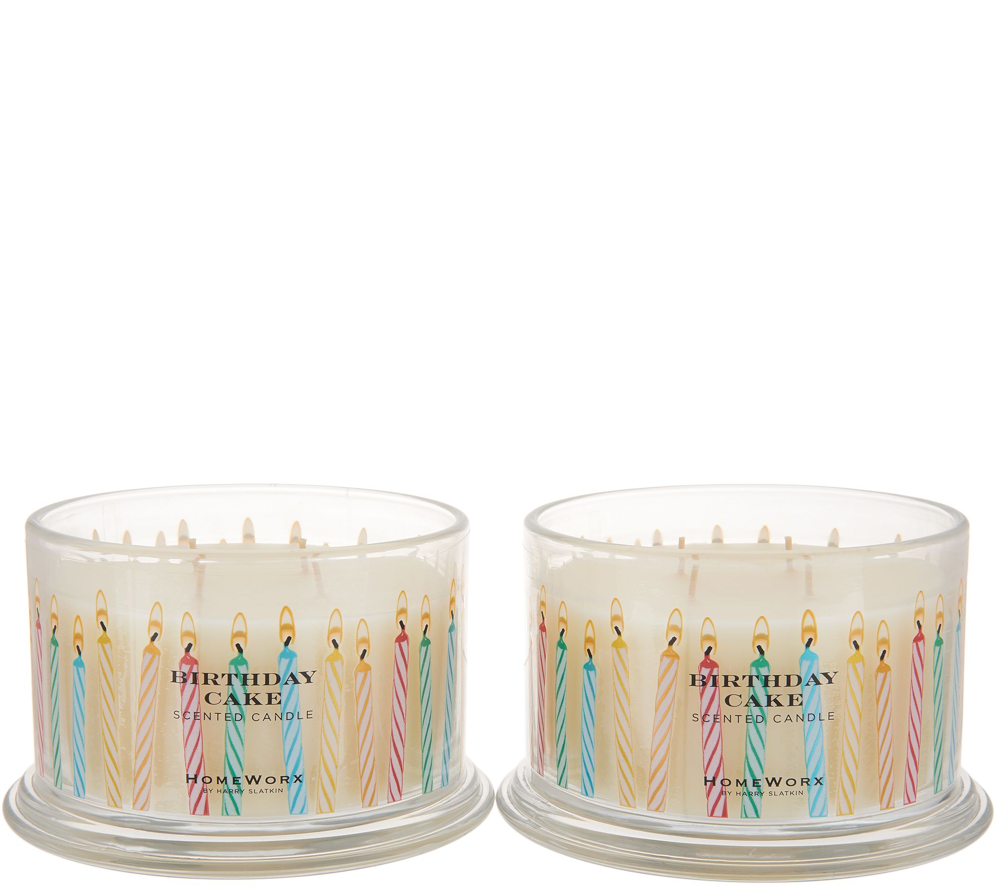 HomeWorx By Harry Slatkin Set Of 2 18 Oz Birthday Cake Candles