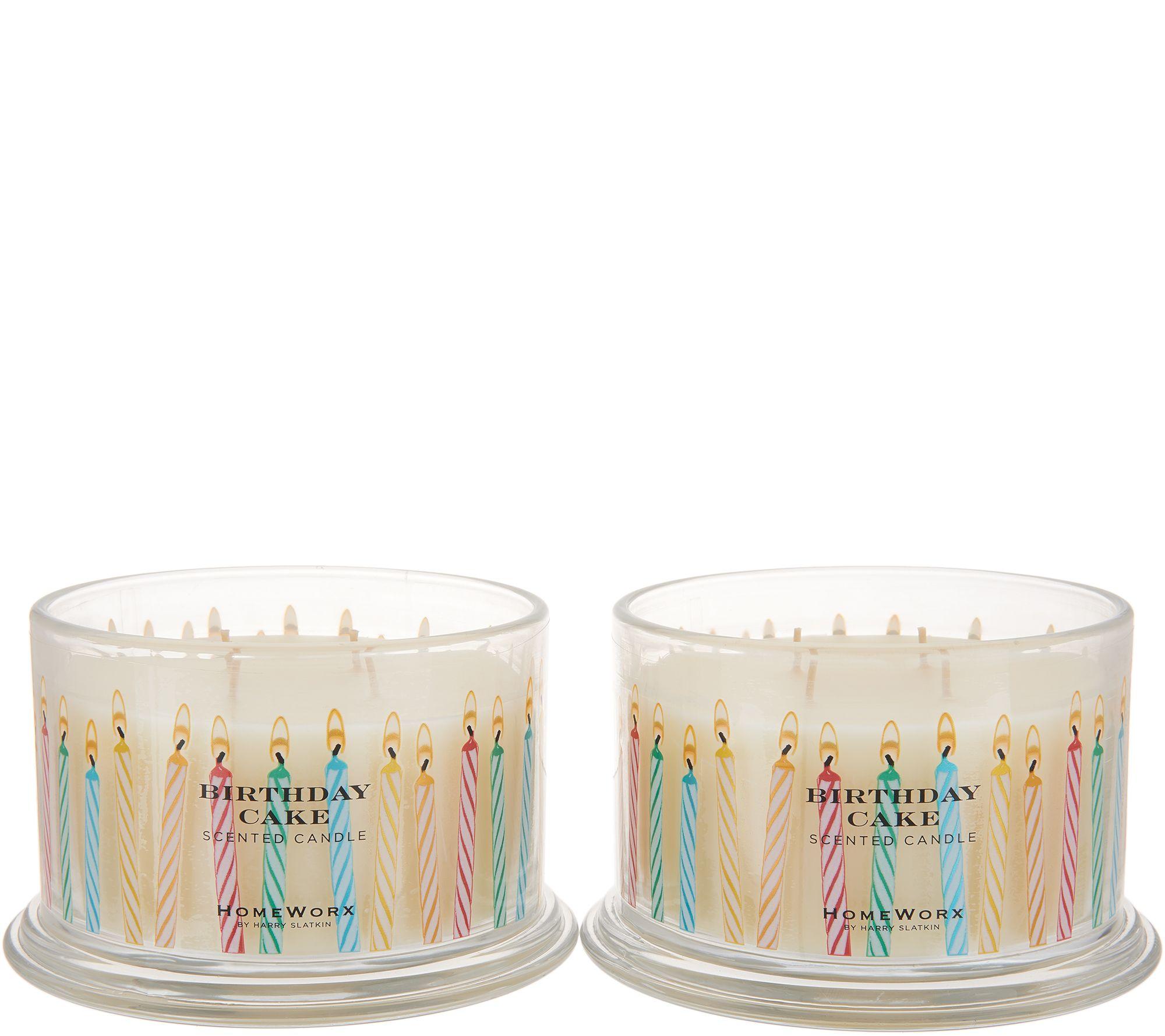 Fabulous Homeworx By Harry Slatkin Set Of 2 18 Oz Birthday Cake Candles Personalised Birthday Cards Beptaeletsinfo