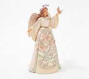 Jim Shore Heartwood Creek White Woodland Angel With Cardinals - H218712