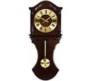 Bedford Clock Collection Chocolate Finish Pendulum Wall Clock - H291112