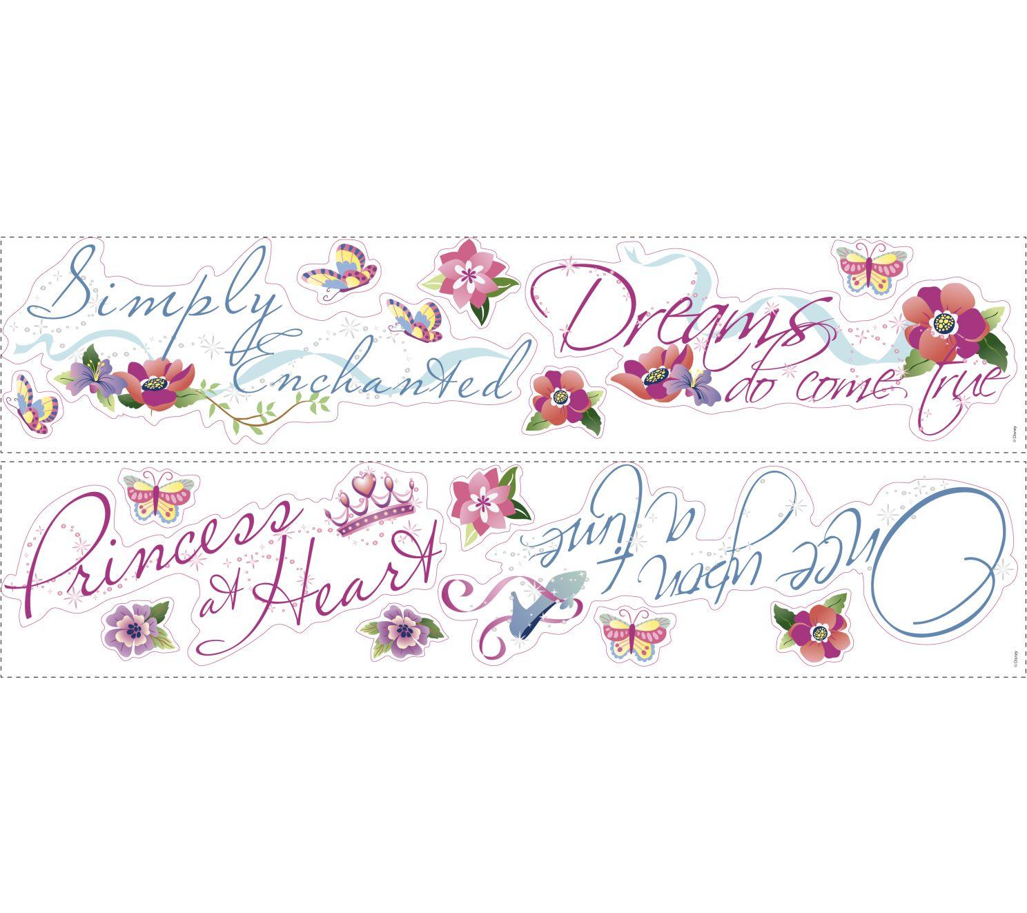 RoomMates Disney Princess Quotes Peel & Stick Wall Decal — QVC.com