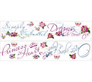 RoomMates Disney Princess Quotes Peel & Stick Wall Decal - H291512
