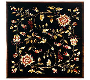 Lyndhurst Floral Swirl Power Loomed 67 x 67Square Rug - H356812
