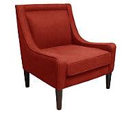 Skyline Furniture Mid-Century Swoop Linen Arm Chair - H365912