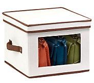 Honey-Can-Do Natural Canvas Medium Window Storage Box - H367412