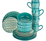 Cooks Essentials Savannah 16-piece Dinnerware Set - H211113