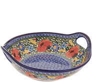 Lidias Polish Pottery Hand-Painted Pasta Bowl with Handles - H214313