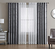 Inspire Me! Home Decor 4-Piece Ella 38 x 84 WindowTreatment - H215513