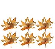 Dennis Basso Set of 6 Decorative Holiday Floral Picks - H213214