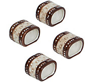 Temp-tations Set of 4 Basketweave Napkin Rings - H295714
