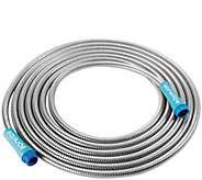 Sun Joe Heavy-Duty 25 Stainless Steel Metal Garden Hose - H300814