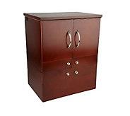 Luxury Deluxe Wood Cosmetic Box w/Mirror by Lori Greiner - H165015