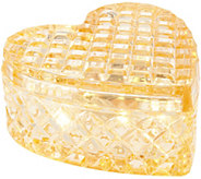 Illuminated Heart Shaped Faceted Glass Keepsake Jar by Valerie - H215815