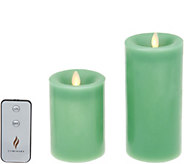 Martha Stewart 4 and 6 Flameless Wax Candle Pillars Set - H216615