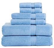 Aerosoft 100Zero Twist Cotton 6-Piece Bath Towel Set - H302415