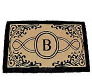 Bristol Monogram Handwoven Coconut Fiber Mat 39 x 24 - H169716