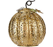 13.5 Lit Punched Metal Pumpkin by Home Reflections - H212816