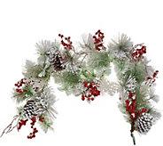 Fresh Snowfall, Snowflake & Berry 4 Garland by Valerie - H216216