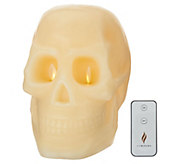 Martha Stewart Wax Skull Flameless Figural Candle - H217616