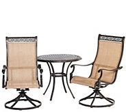 Hanover Outdoor Manor 3-Piece Bistro Dining Set - H288916
